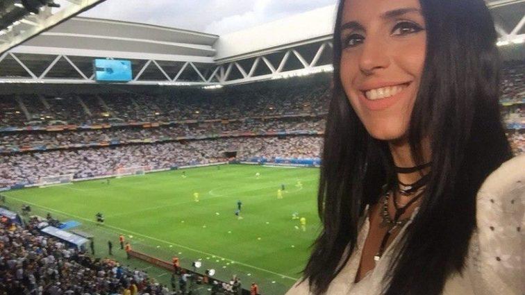 Джамала во Франции болела за украинскую сборную (ФОТО)