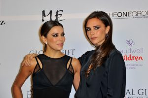LONDON, ENGLAND - NOVEMBER 19:  Eva Longoria and Victoria Beckham attend the London Global Gift Gala at ME Hotel on November 19, 2013 in London, England.  (Photo by Gareth Cattermole/Getty Images)