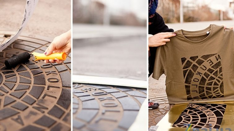 Дизайнеры печатают принты на одежде с помощью канализационных люков (ФОТО)