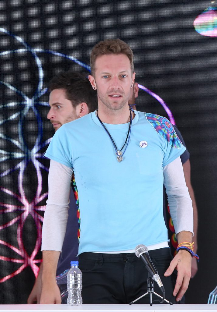 Mandatory Credit: Photo by Carlos Tischler/REX/Shutterstock (5647518c) Chris Martin Coldplay 'A Head Full Of Dreams' tour press conference, Mexico City, Mexico - 15 Apr 2016