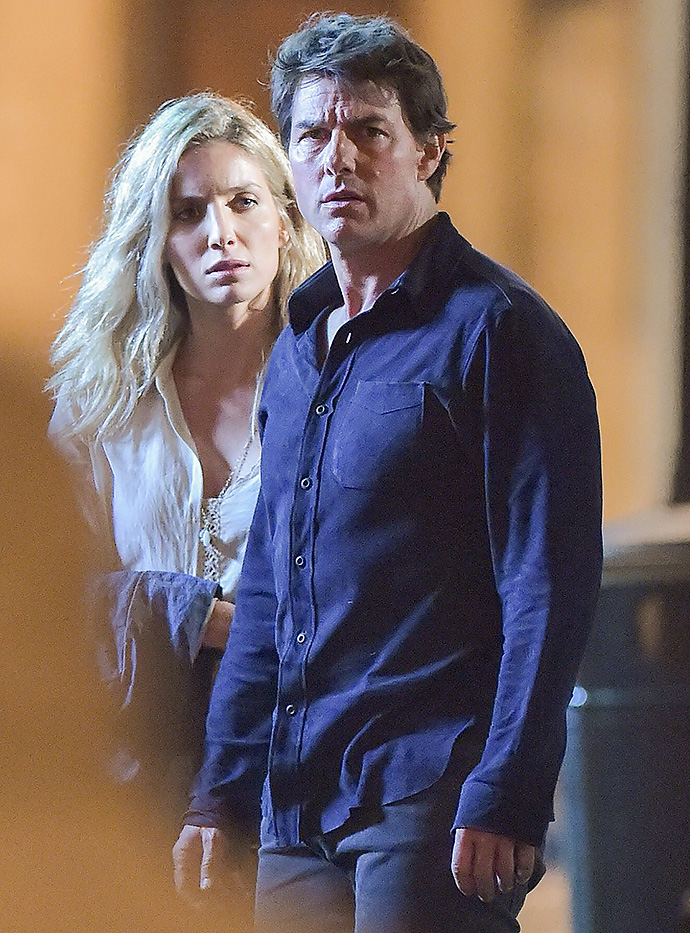 """Tom Cruise in Oxford shooting scenes for new feature film """"The Mummy"""", with Annabelle Wallis  Pictured: Tom Cruise; Annabelle Wallis"""