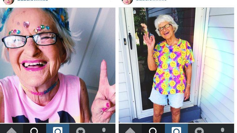 88-летняя звезда Instagram пришла на премию MTV в прозрачном костюме (фото)