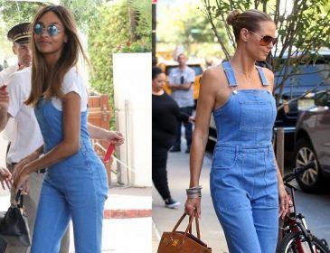 Джордан Данн vs Хайди Клум: как модели носят джинсовый комбинезон (фото)