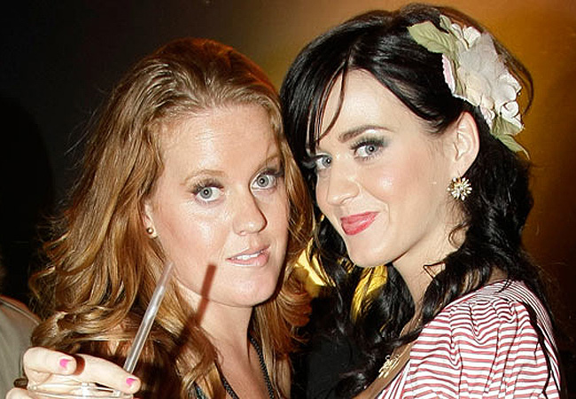 BERLIN - SEPTEMBER 17: Katy Perry (R) and sister Angela dance at the Katy Perry After Show Party at the Postbahnhof on September 17, 2008 in Berlin, Germany.  (Photo by Florian Seefried/Getty Images) *** Local Caption *** Angela Perry;Katy Perry