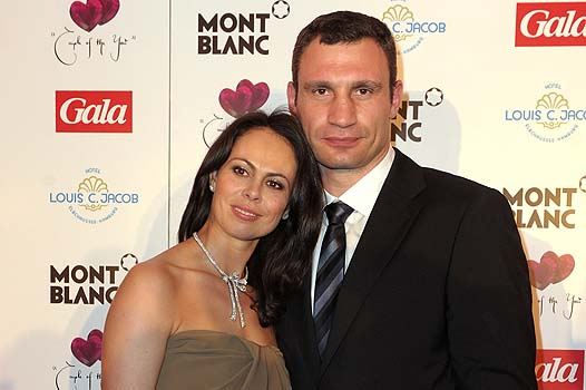 HAMBURG, GERMANY - APRIL 11:  Vitali (L) and Natalie Klitschko attend the Couple Of The Year event on April 11, 2011 in Hamburg, Germany.  (Photo by Krafft Angerer/Getty Images) *** Local Caption *** Natalie Klitschko;Vitali Klitschko