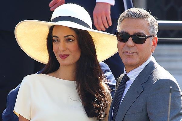 George Clooney and Amal Alamuddin sign for civil wedding. Pictured: George Clooney and Amal Alamuddin Ref: SPL853118  290914   Picture by: Mr Cool / Splash News Splash News and Pictures Los Angeles:310-821-2666 New York:212-619-2666 London:870-934-2666 photodesk@splashnews.com