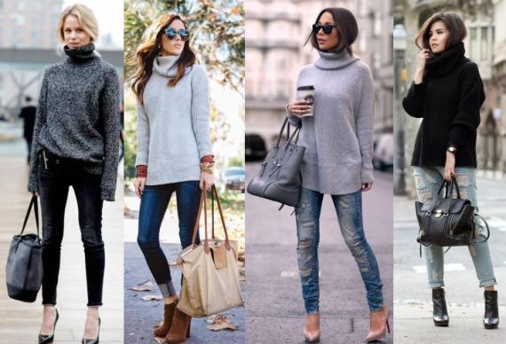 Водолазка стала хитом весеннего сезона: примеры модного сочетания