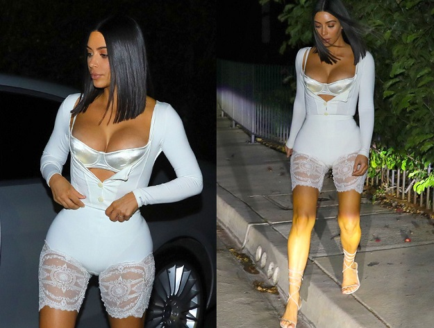 EXCLUSIVE: **PREMIUM EXCLUSIVE RATES APPLY**NO WEB UNTIL 8:30AM PST ON APRIL 22, 2017**Kim Kardashian seen arriving at a friends house for dinner in Hollywood on Tuesday night. Pictured: Kim Kardashian Ref: SPL1481289  210417   EXCLUSIVE Picture by: Brian Prahl / Splash News Splash News and Pictures Los Angeles:310-821-2666 New York:212-619-2666 London:870-934-2666 photodesk@splashnews.com