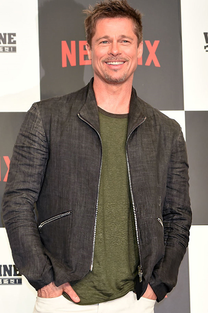 TOKYO, JAPAN - MAY 22:  Brad Pitt attends the press conference for 'War Machine' at The Ritz-Carlton, Tokyo on May 22, 2017 in Tokyo, Japan.  (Photo by Jun Sato/WireImage)