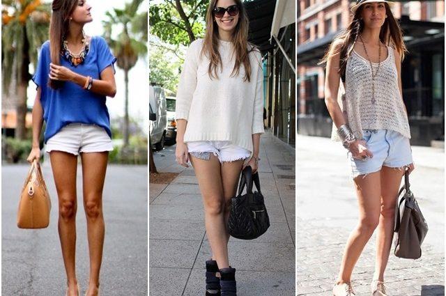 Короткие белые шорты: главный тренд лета 2017