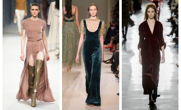 Модные длинные платья осени 2017