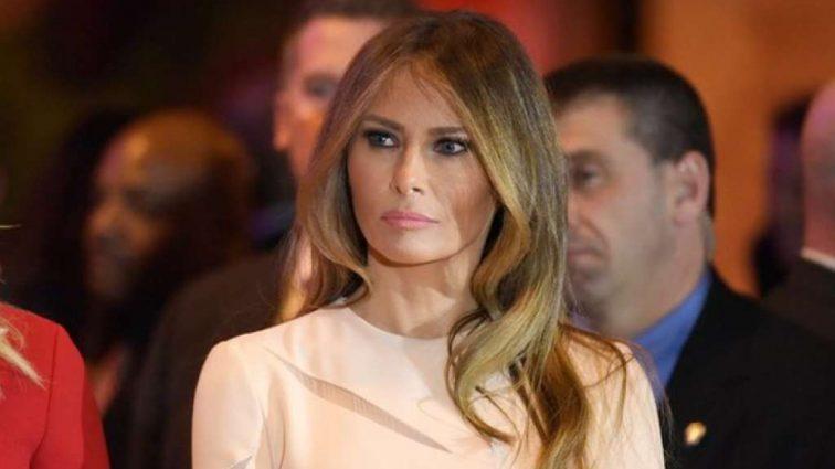 Располневшая Мелания Трамп показала животик в пышном платье