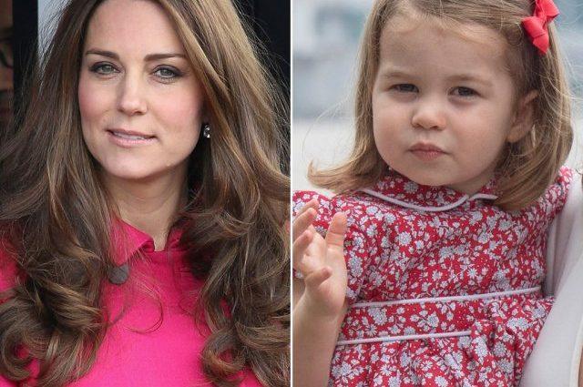 Принцесса Шарлотта поражает сходством со своей мамой Кейт Миддлтон