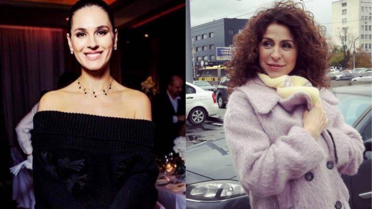 Маша Ефросинина и ведущая Надежда Матвеева засветились в одинаковых платьях