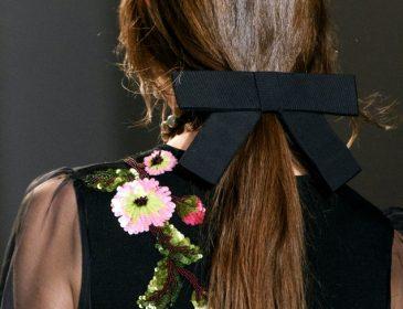 Романтический hair-тренд этой зимы — прически с лентой