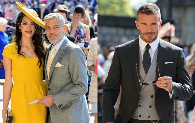 Неповторимые и экстравагантные: Звездные гости удивили вычурными нарядами на королевской свадьбе (фото)